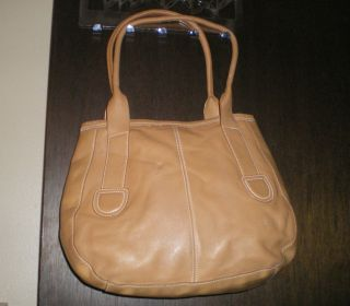 Latico N J USA Tan Leather Shoulder Bag Pre Owned GUC