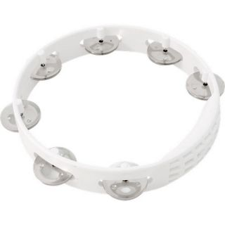 Latin Percussion LP Aspire 8 Tambourine White Plastic