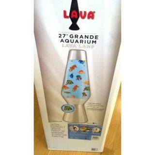 Original Lava Lite 27 Inch Grande Aquarium Fish Tank Lava Lamp Bright