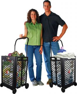 Laundry Cart Grocery Shopping Foldable Cart