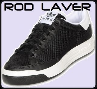 Adidas Rod Laver Mesh Mens Brand New Casual Shoe Black White Select