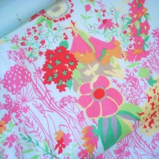 Garden Border Pale Blue Cotton Lawn Fabric ♥ per Panel
