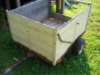 Wooden Lawn Garden Cart