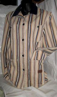Womens Lauren Striped Barn Jacket Dry Goods Supply New