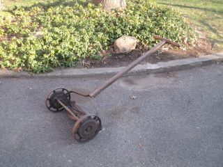1904 LawnMower Antique Rotary Reel Lawn Mower Wooden Handle Vintage NY