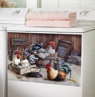 Farmhouse Rooster Laundry Room Decorative Washer Magnet