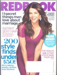 Redbook Magazine Oct 2010 Lauren Graham Style Health