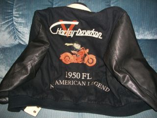 harley davidson limited edition warner bros. jacket leather and wool