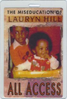Lauryn Hill 1999 Tour Laminated Backstage Pass
