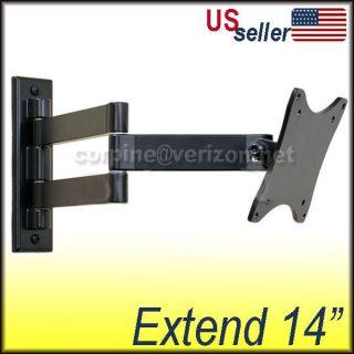 LCD Monitor Flat Panel TV Tilt Swing Arm Wall Mount B03