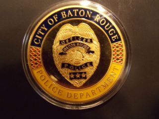 Law Enforcement City of Baton Rouge Police Department Challenge Coin