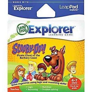 LEAP FROG EXPLORER & LEAP PAD GAME~SCOOBY DOO PIRATE GHOST OF THE