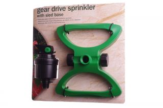 Gear Drive Yard Lawn Garden Grass Long Distance Sprinkler Hose