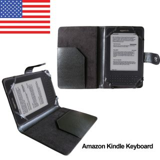 New Black PU Leather Case Cover for  Kindle 3 Kindle Keyboard