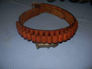 Leather Cowboy Shell Holder Belt