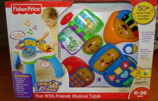 Fisher Price Laugh Learn Fun Musical Table Activity Center New
