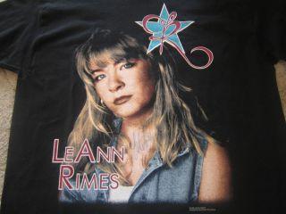 LEANN RIMES Signed BLUE TOUR Shirt AUTOGRAPHED Adult EXTRA LARGE XL