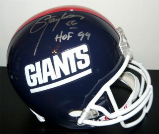 LAWRENCE TAYLOR SIGNED AUTOGRAPHED NEW YORK GIANTS FULL SIZE HELMET W