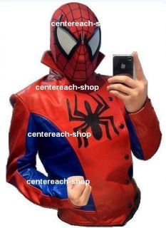 Spider Man Leather Jacket Costumes Jacket Custom All Sizes Available
