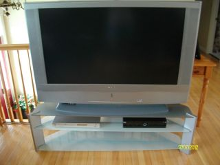 Black Silver Sony 50 LCD TV with HDTV