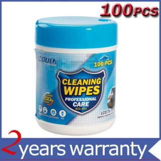 Monitor LCD TV Screen Cleaning Clean Wet Wipes 100 Pcs
