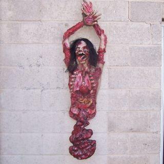 Torso Body Bloody Guts Halloween Haunted House Prop