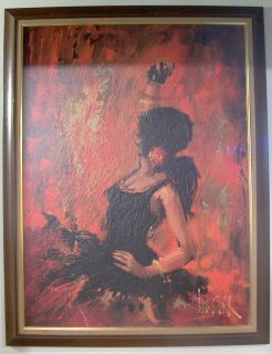 Lee Reynold Burr Oil Painting from The 60s La Flemenca Dancer VGC