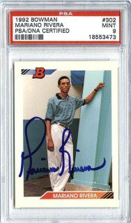 1992 Bowman #302 MARIANO RIVERA PSA/DNA Auto Rookie RC Mint 9 Yankees