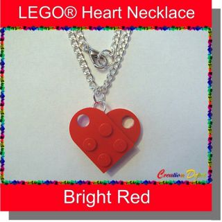 Lego® Fashion Heart Dangle Necklace Valentines Day