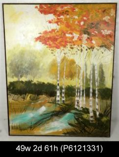 Signed Lee Reynolds Autumn Landscape Painting P6121331 N