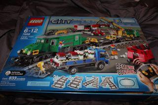 Lego City Cargo Train Deluxe 7898 w Mini Figures Legos