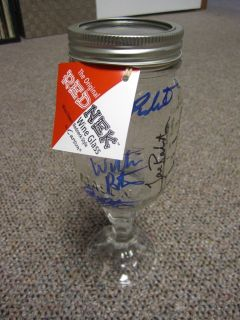 Duck Dynasty Si Robertson +3 Signed Autographed RED NECK Mason wine