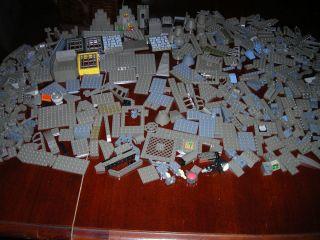 600 Piece Lot Dark Gray Grey Lego Pieces Bricks Tiles etc Legos