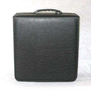 528 CD Black Faux Leather Metal 3 Ring Binder Storage Case Wallet DVD