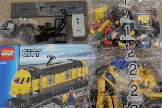 Lego City Cargo Train Set from 7939 Engine Only with Power Functions