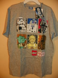Lego Star Wars 6 Characters Boys 7 8 10 12 14 Licensed Short Sleeve