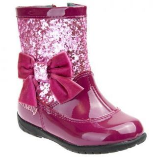 Girls Lelli Kelly Baby Milly Patent Leather Toddler Boots Pink LK8112