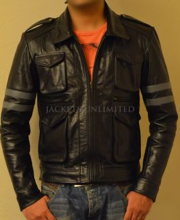 Re 6 Resident Evil 6 Leon Kennedys Black Faux Leather Jacket All Size