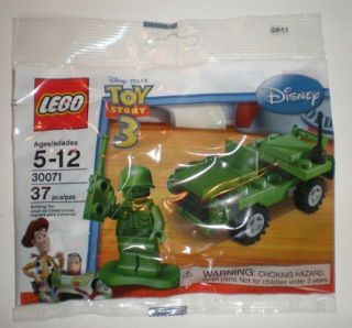 Lego ARMY SOLDIER JEEP MINI 30071 Set New Sealed Toy Story minifig