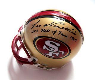 Leo Nomellini Signed San Francisco 49ers Helmet JSA