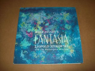Disneys Fantasia 3 vinyl LPs w booklet Leopold Stokowski conductor VG