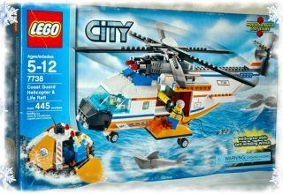 Lego 7738 City Coast Guard Helicopter Life Raft NEW SEALED Vehicle