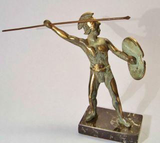 LEONIDAS BRONZE METAL STATUE ANCIENT GREEK SPARTAN WARRIOR SCULPTURE