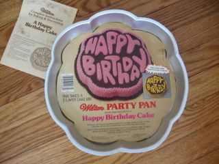 WILTON HAPPY BIRTHDAY CAKE PAN CrAzY BuBbLe Letters INSERT free ship