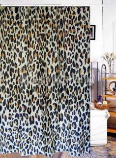 Leopard Striped Picture Bathroom Fabric Shower Curtain PS110