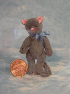 Emily Farmer Jointed Mini Bear Artist Kit Smokey Cat