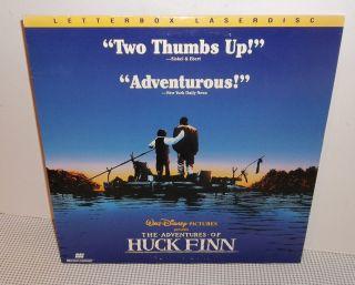 Adventures of Huck Finn Laser Disc Letterbox VHTF Walt Disney