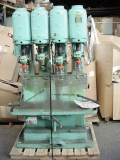 Leland Gifford Drill Press 4 Spindle 440 Volt