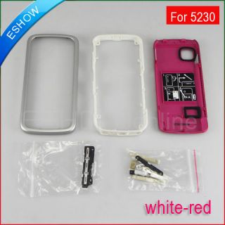 New White Red Full Housing Cover Keypad for Nokia 5230