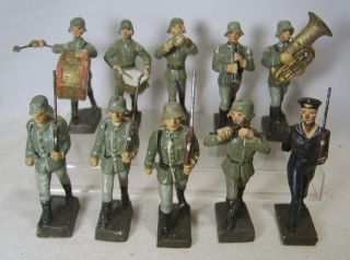 German Composition Soldiers WWII 2 Elastolin Leyla